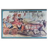 Domestic Sewing Machine Co. Tin Advertising Sign