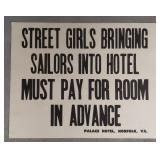 Street Girls Paper Sign Measures approximately
