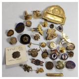 Vintage Lapel Pin Lot includes Service pins, Mack