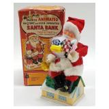 Noel Decorations Battery and Coin Op. Santa Bank