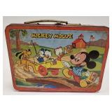 1954 Adco Mickey Mouse + Donald Duck Metal Lunch