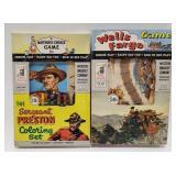 Milton Bradley Sergeant Preston Coloring Set and