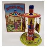 Tin Windup Rotary Bear Go Round