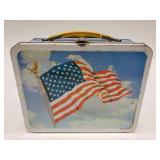1973 Ohio Art American Flag Metal Lunchbox