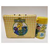 1981 Aladdin Vinyl Sesame Street Lunchbox with