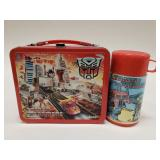 1986 Aladdin The Transformers Metal Lunchbox with