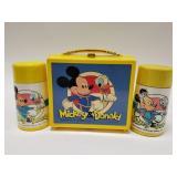 Vintage Aladdin Mickey & Donald Plastic Lunchbox