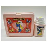 Vintage 1983 Thermos Smurfette Plastic Lunchbox