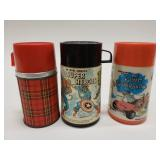 Love of 3 Vintage Lunchbox Thermoses. Includes