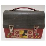 Thermos Open Barn Door Metal Dome Lunchbox