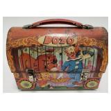 1963 Aladdin Bozo Dome Metal Lunch Box