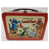 1963 Hanna Barbera Cartoon Zoo Lunch Chest Metal