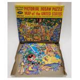 Jaymar Walt Disney Pictorial Jigsaw Puzzle Map of