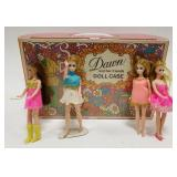 Vintage 1971 Dawn and Her Friends Dolls with Doll