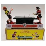 Tin Windup Playing Ping-Pong With Box