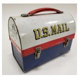 1969 Aladdin U.S Mail Metal Dome Lunch Box
