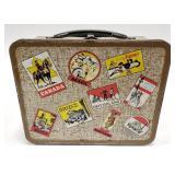 1964 Ohio Art Traveler Brown Metal Lunch Box