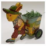 J. Chein Tin Litho Peter Rabbit with Cart