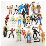 Lot of Miscellaneous Action Figures. Includes