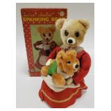Linemar Battery Operated Spanging Bear with Box