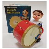Tin Windup Daiya Mechanical Clown Drummer. One of