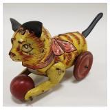 Mechanical Tin Litho Marx Cat with Ball