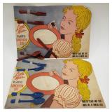 (2) Little Miss Plastic Luncheon Set by Pyro