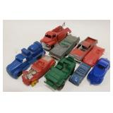 Lot of Vintage Toy Cars including Auburn Rubber,