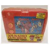 1986 Munchie Tunes AM Radio Plastic Lunchbox.