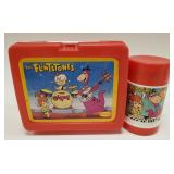 Vintage The Flintstones Plastic Lunchbox with