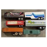 Lot of Metal Trailers including hubley, Ertl, and