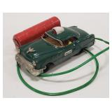 Tin Litho Battery Op. Police Car Remote Control.