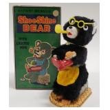 Battery Operated T.N Japan Shoe Shine Bear with