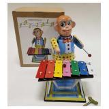 Tin Windup Monkey Playing Xylophone