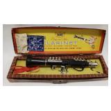Emenee Musical Toys Ebony and Silver Clarinet
