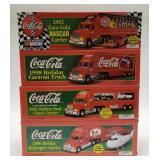 Collectible Coca Cola Limited Edition Trucks.