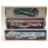 Hess 18 Wheeler and Racer, Hess Toy Firetruck,