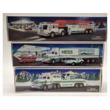Hess Fire Truck, Hess 18 Wheeler and Racer, Hess