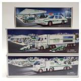 Hess Toy Truck and Racecars, Hess Patrol Car, and