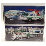 Hess Toy Truck and Front Loader + Hess Rescue