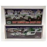 Hess Toy Truck and Race Car + Hess Helicopter and