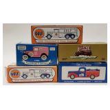 (5) Ertl + Speccast Gulf, Citgo, and Texaco truck