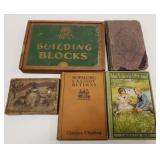 Vintage Hopalong Cassidy Book, Building Blocks,