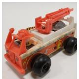 Vintage Fisher Price Fire Engine Wood Toy