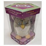 Electronic Furby with the box.