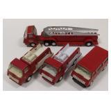 (4) Vintage Mini Tonka Pressed Steel Fire