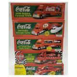 (5) Coca Cola Limited Edition Semi Trucks.