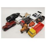 Lof of Die-cast and Plastic cars + trucks. For