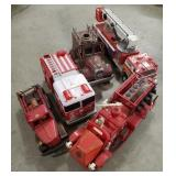 Lot of Miscellaneous Fire Truck Toys