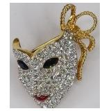 Signed Swarovski Crystal Mask